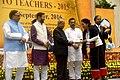 The President, Shri Pranab Mukherjee presenting the National Award for Teachers-2015 to Smt. Kedupe-u Wetsah (Nagaland), on the occasion of the 'Teachers Day', in New Delhi.jpg
