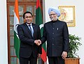 The Prime Minister, Dr. Manmohan Singh meeting the President of the Republic of Maldives, Mr. Abdulla Yameen Abdul Gayoom, in New Delhi on January 02, 2014.jpg