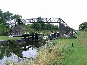 Longwood, County Meath - Image: The Ribbontail Bridge and Guard Lock, near Longwood, Co. Meath geograph.org.uk 1429168