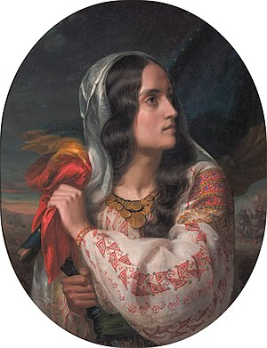 Maria Rosetti - Revolutionary Romania, painted by Rosenthal in homage to Rosetti