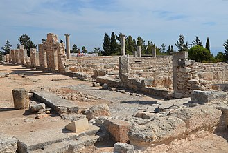 Akrotiri and Dhekelia - Remains of the sanctuary and temple of Apollo Hylates at Kourion, a UNESCO World Heritage Site