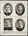The Sketcher souvenir. No. 25. Auckland, July 25, 1908. (Page) 11 (Four British rugby players) (21618560921).jpg