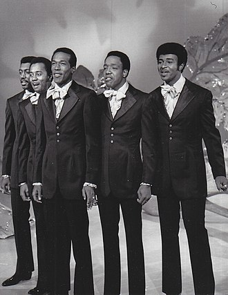The Temptations - The Temptations perform on The Ed Sullivan Show in September 1969. Left to right: Otis Williams, Melvin Franklin, Eddie Kendricks, Paul Williams, and Dennis Edwards.