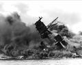 The USS Arizona (BB-39) burning after the Japanese attack on Pearl Harbor, 12-07-1941 - NARA - 195617.tif