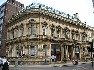 Colmore Row - Bamford's Trust House, formerly The Union Club, 85-89 Colmore Row, on the corner of Newhall Street