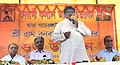 The Union Minister for Tribal Affairs, Shri Jual Oram addressing the gathering after inaugurating a Boy's Hostel of Vanavasi Kalyan Ashram, at Gayerkata, Jalpaiguri, West Bengal on October 30, 2015.jpg