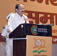 The Vice President, Shri M. Venkaiah Naidu addressing the gathering on the occasion of 100th Birth Anniversary of Shri Dattopanth Thengri, in New Delhi on November 13, 2019.JPG