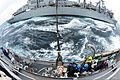 The fast combat support ship USNS Rainier (T-AOE 7) performs a replenishment at sea with the guided missile destroyer USS McCampbell (DDG 85), foreground, during Foal Eagle 2013 in the Yellow Sea March 20, 2013 130320-N-TG831-121.jpg