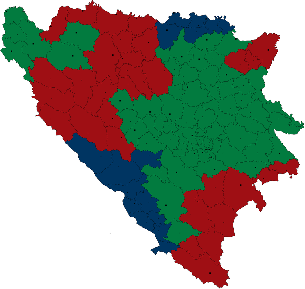 The first Muslim proposal on cantonisation of Bosnia and Herzegovina