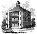 The first Vermont State House (1808 wood engraving).jpg