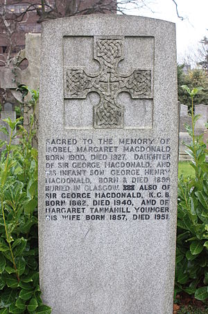 George Macdonald (archaeologist) - The grave of Sir George Macdonald, Dean Cemetery