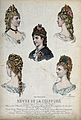 The heads and shoulders of five women with their hair combed Wellcome V0019892EL.jpg