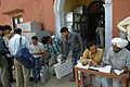 The polling officials carrying polling materials for use in the first phase of General Elections-2009 at one of the EVM distribution centre at Jammu, in Jammu & Kashmir on April 15, 2009 (1).jpg
