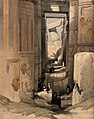 The temple at Karnac, Thebes, Egypt. Coloured lithograph by Wellcome V0049337.jpg