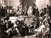 The weddings at Susa, Alexander to Stateira and Hephaistion to Drypetis (late 19th century engraving).jpg