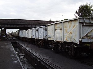 Mineral wagon - Some ex windcutter wagons at Loughborough MPD on the Great Central Railway