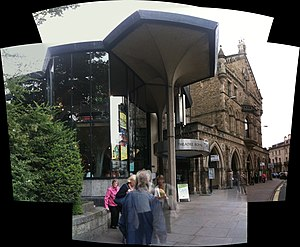 Patrick Gwynne - York's Theater Royal, showing a distinctive (and characteristic) modernist addition by the English architect, Patrick Gwynne (1967).
