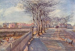 Country Lane with Trees. Kastrup