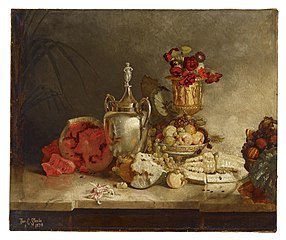 Still Life of Fruit and Urn