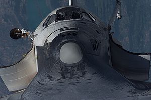 Thermal protection system inspections from ISS - Shuttle nose.jpg