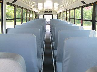 (school bus interior)