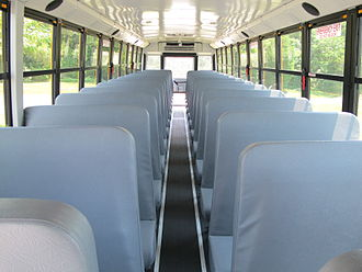 School bus - Interior view of an empty school bus (Thomas Saf-T-Liner C2)
