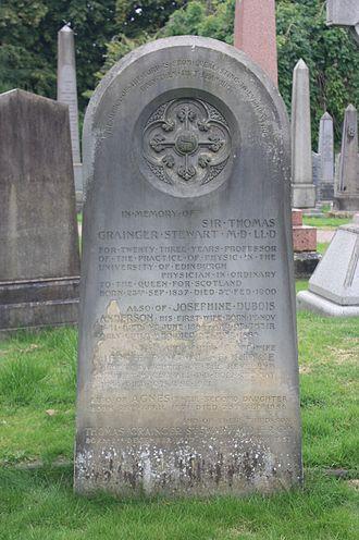 Thomas Grainger Stewart - Thomas Grainger Stewart's grave, Dean Cemetery