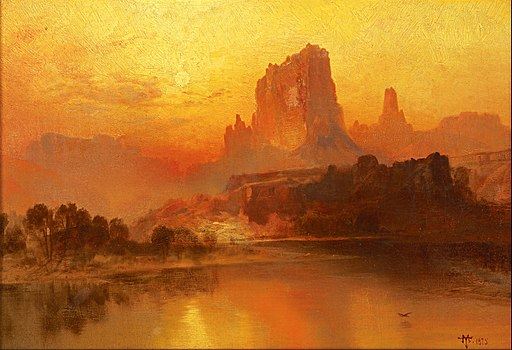 Thomas Moran - The Golden Hour - Google Art Project