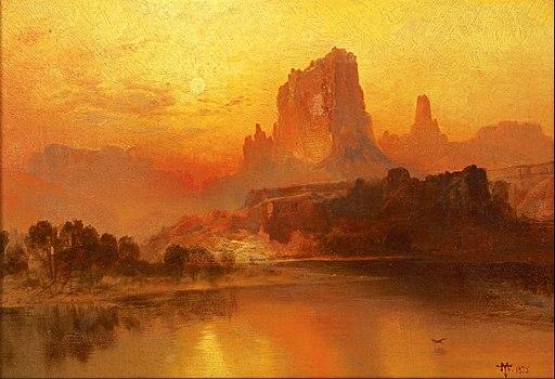 Thomas Moran - The Golden Hour - Google Art Project