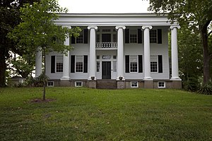 Alabama - The main house, built in 1833, at Thornhill in Greene County. It is a former Black Belt plantation.
