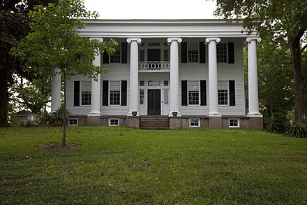 The main house, built in 1833, at Thornhill in Greene County. It is a former Black Belt plantation. Thornhill 01.jpg