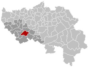 Tinlot - Image: Tinlot Liège Belgium Map