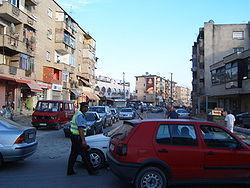 Rush hour in Tirana