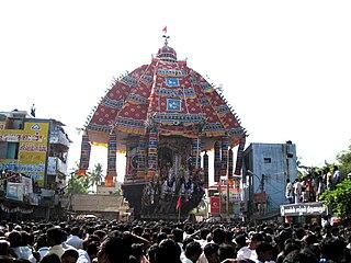 Thiruvarur Town in Tamil Nadu, India