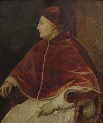 Pope Sixtus IV - Posthumous portrait of Pope Sixtus IV by Titian