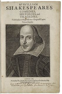 Second Folio 1632 second edition of the works of William Shakespeare