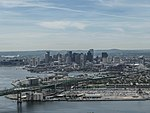 Tobin Bridge and Boston skyline, June 2017.jpg