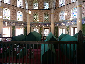 Handan Sultan - The türbe of Handan is located next to that of Mehmed III in the courtyard of Hagia Sophia