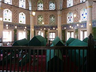 Handan Sultan - The türbe of Handan is located next to that of Mehmed III in the courtyard of Hagia Sophia