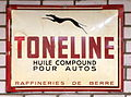 Toneline, Enamel advert sign at the den hartog ford museum pic-041.JPG
