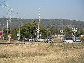 Toodyay Road - Toodyay Road railway crossing, Middle Swan