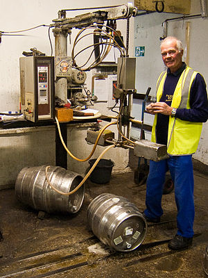 Isinglass - Adding finings to a cask of beer