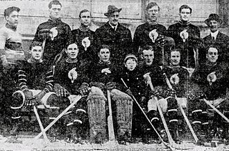 Fred Strike - Fred Strike, second from right in the front row, with the 1912–13 Toronto Tecumsehs.