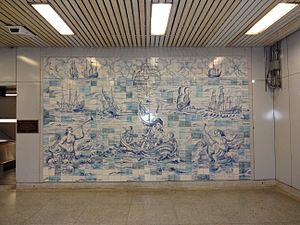 Queen's Park station (Toronto) - Ceramic tile mural displayed in the station mezzanine