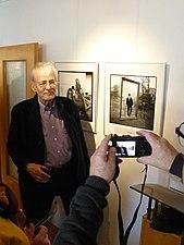 Total-Künstler Timm Ulrichs im Studio arcus (Hannover), 08.02.2015.JPG
