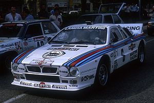 Tour de France Automobile - Jean-Louis Clarr at the 1982 event with a Lancia 037