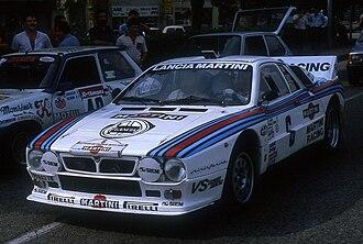 Tour de France Automobile - Jean-Louis Clarr at the 1982 event with a Lancia 037