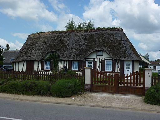Tourville-la-Campagne (Eure, Fr) maison Normande