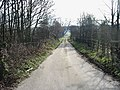 Track running parallel to A2, looking SE - geograph.org.uk - 340682.jpg