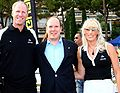 Tracy Mattes, Prince Albert II of Monaco & Todd Mattes at the World Biathle Championships in Monte Carlo.jpg